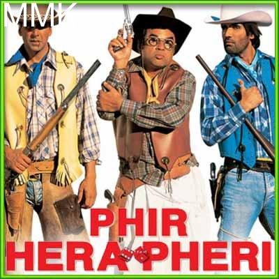 Dil De Diya Hai - Phir Hera Pheri (MP3 and Video Karaoke Format)