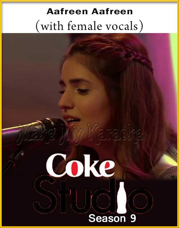 Aafreen Aafreen With Female Vocals Karaoke Coke Studio