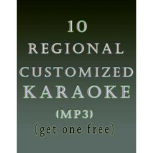 10 Regional Customized Karaoke MP3 (Get 1 free)