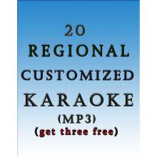 20 Regional Customized Karaoke MP3 (Get 3 free)