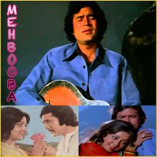 Mere Naina Sawan Bhado - Mehbooba (MP3 and Video Karaoke Format)