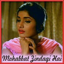Na Jaane Kyun Humare Dil KoTumne Nahin Samjha - Mohabbat Zindagi Hai (MP3 and Video-Karaoke  Format)