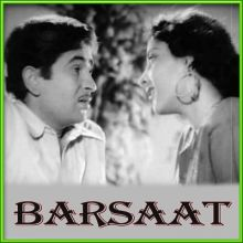 Chhod Gaye Balam | Barsaat | Lata ,Mukesh | Download Bollywood Karaoke Songs |