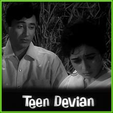 Likha Hai Teri Annkhon Mein Kiska Afsana - Teen Deviyaan (MP3 and Video Karaoke Format)