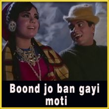 Haan Maine Bhi Pyaar Kiya - Boond Jo Ban Gayi Moti (MP3 and Video-Karaoke Format)