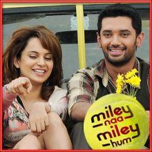 Haan Yahi Pyar Hai - Mile Na Mile Hum (MP3 and Video Karaoke Format)