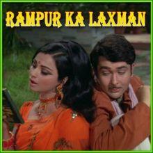 Gum Hai Kisi Ke Pyaar Mein - Rampur Ka Lakshman (MP3 and Video Karaoke Format)