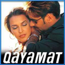 Wo Ladki Bahut Yaad Aati Hai - Qayamat (MP3 and Video Karaoke Format)