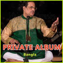Bhorer Shishir Hoye Ek Phonta Shuk Jodi - Unknown Album - Bangla (MP3 and Video Karaoke Format)