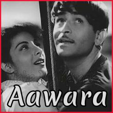 Dambhar Jo Udhar Munh Phere - Aawara (MP3 and Video Karaoke Format)