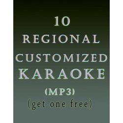 10 Regional Customized Karaoke MP3 (Get 1 free)