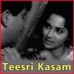 Aa Aa Bhi Ja - Teesri Kasam (MP3 and Video Karaoke Format)