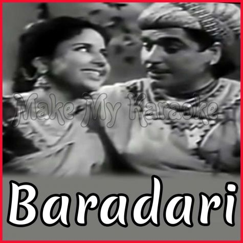 Tasveer Banata Hoon - Baradari (MP3 and Video Karaoke Format)