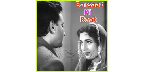 Garjat Barsat Sawan Aayo Re - Barsaat Ki Raat (MP3 and Video-Karaoke Format)
